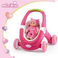 Коляска-ходунки Mini Kiss Baby Walker 2 в 1 Smoby 210201