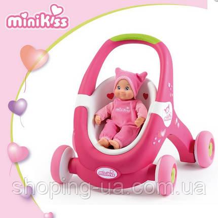 Коляска-ходунки Mini Kiss Baby Walker 2 в 1 Smoby 210201, фото 2