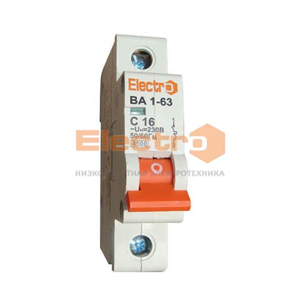 Модульный автоматический выключатель ВА1-63 1п