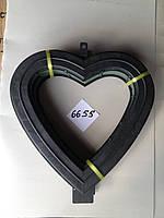 Сердце на пластиковом поддоне с креплением
