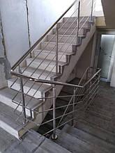 Перила нержавеющие на лестницу