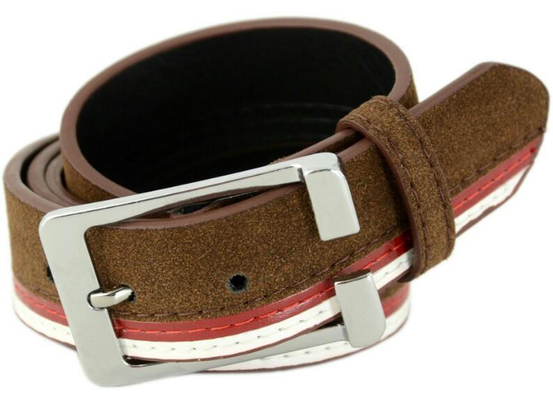 Ремень мужской TRAUM 8712-36, под брюки, коричневый, 3,4 х 100 см
