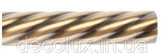 Труба металева 160 см, крученная