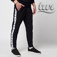 Мужские спортивные штаны черные с лампасом от бренда ТУР модель Скорпион (Scorpion) размер XS, S, M, L, XL