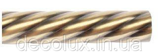Труба металева 240 см, крученная