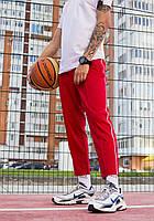 Спортивні штани чоловічі червоні з смужками модель Кейдж (Cage) від бренду ТУР розмір S, M, L, XL, фото 1