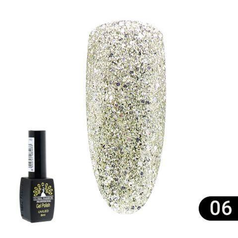 Гель лак Gold (блестящий) 8мл. Global Fashion 06