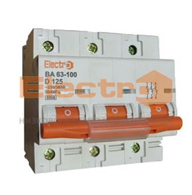 Модульный автоматический выключатель ВА63-100 3Р