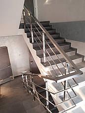 Перила нержавеющие квадратные, фото 2