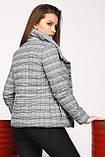 Демисезонная куртка клетка размер 44,  X-Woyz LS-8828, фото 3