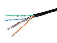 Кабель FTP наружный 4пары (0,50мм) омеднённый, чёрный, 305м/бухта, фото 1