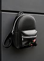 """Женский черный рюкзак от """"BEZET"""" модель """"black rose 18L"""", фото 1"""