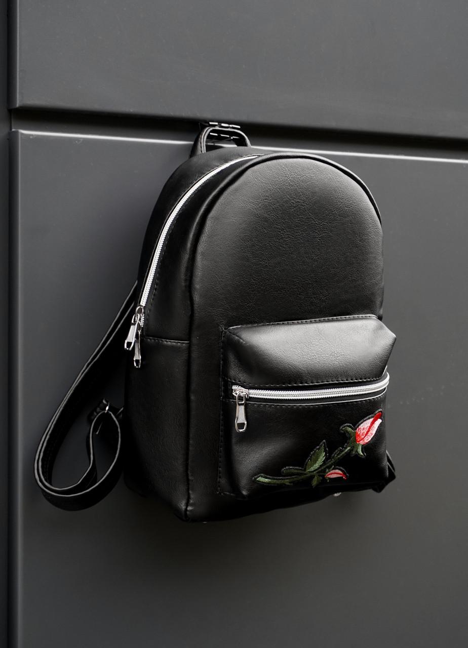 """Женский черный рюкзак от """"BEZET"""" модель """"black rose 18L"""""""