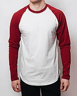 Мужская кофта лонгслив красно-белый MS R&W , фото 1
