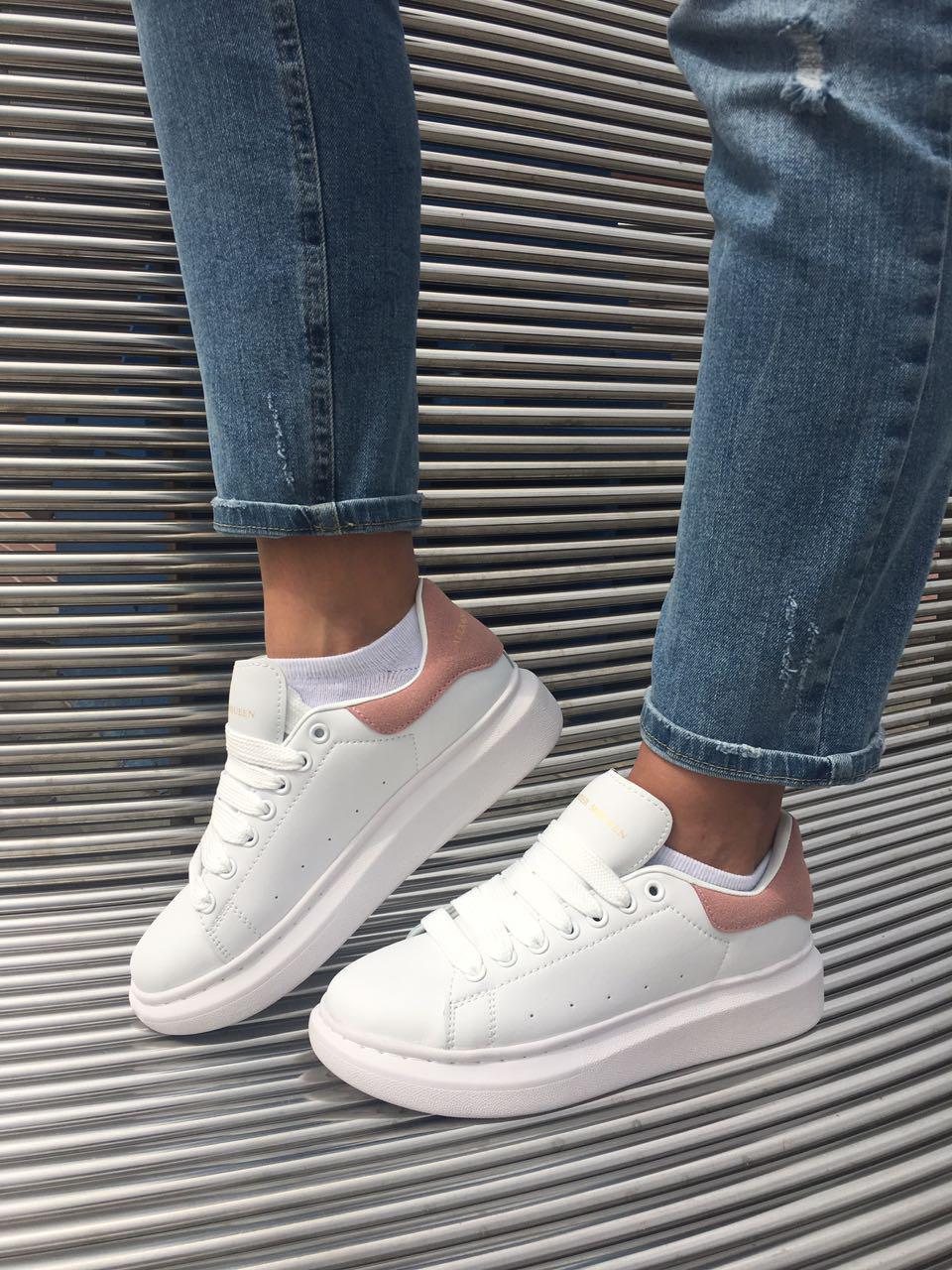 Кросівки кеди білі жіночі Олександр Макквін (Alexander Mcqueen) розмір 36, 37, 38, 39, 40 репліка