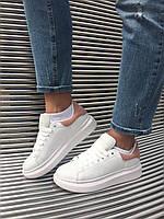 Кросівки кеди білі жіночі Олександр Макквін (Alexander Mcqueen) розмір 36, 37, 38, 39, 40 репліка, фото 1