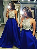 Вечернее платье. Платье атласное выпускное. Платье атласное с камнями.Красивые вечерние платья в Украине