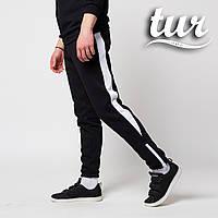 b971035a6635 Теплые зимние спортивные штаны мужские чёрные с белым от бренда ТУР Рокки  (Rocky) размер