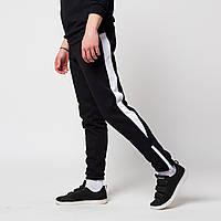 282cfee8 Теплые зимние спортивные штаны мужские чёрные с белым от бренда ТУР Рокки  (Rocky) размер XS, S, M, L S