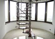 Перила нержавеющие на винтовую лестницу, фото 2