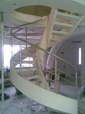 Перила нержавеющие на винтовую лестницу, фото 3