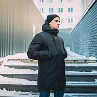 Зимняя куртка парка мужская черная Стим (Steam) от бренда Punch размер S, M, L, XL, фото 1