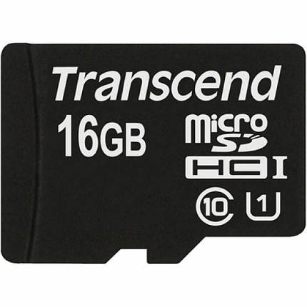 Карта памяти Transcend 16Gb microSDHC Class10 UHS-I (TS16GUSDCU1), фото 2