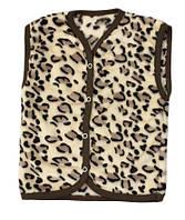 Жилетка махровая детская для девочки 101 Леопардик, р.26, 86-92 см