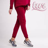 Зимнее спортивные штаны женские бордовые от бренда ТУР размер S, M
