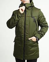 Зимова куртка парку чоловіча хакі водовідштовхувальна Грізлі (Grizli) від бренду ТУР розмір S, M, L, XL, XXL, фото 1