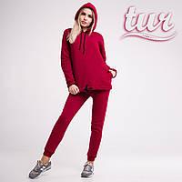 Зимовий спортивний костюм жіночий бордовий від бренду ТУР розмір S, M