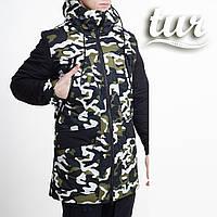 Зимова куртка парка чоловіча камо водовідштовхувальна Грізлі (Grizli) від бренду ТУР розмір S, M, L, XL, XXL