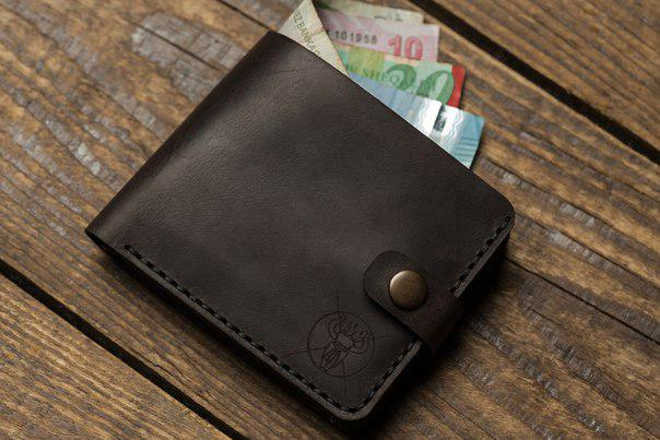 """Шкіряний чоловічий гаманець """"Darabond"""", фото 1"""