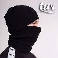 Зимова шапка чорна унісекс Бран (Bran) від бренду ТУР