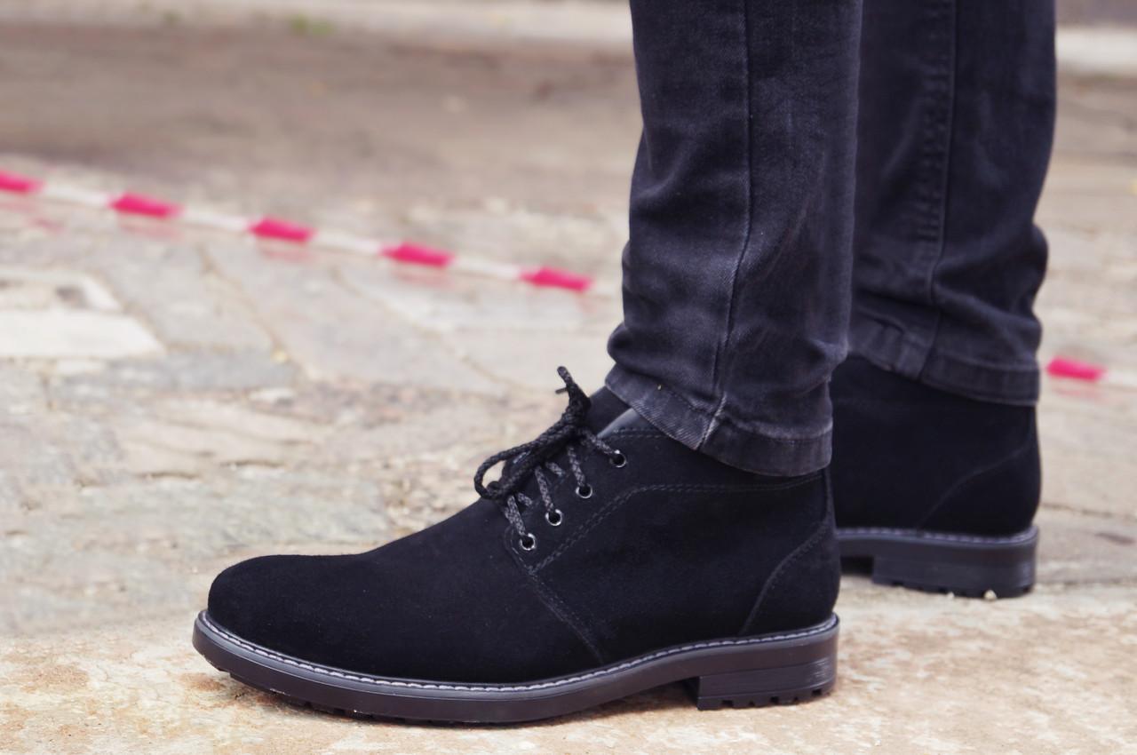 Зимові черевики Дезерт чоловічі чорні замшеві розмір 40, 41, 42, 43, 44, 45, фото 1