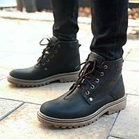 Зимние ботинки мужские черные кожаные Дезерт Бирс (Desert Bears) размер 40, 41, 42, 43, 44, 45, фото 1