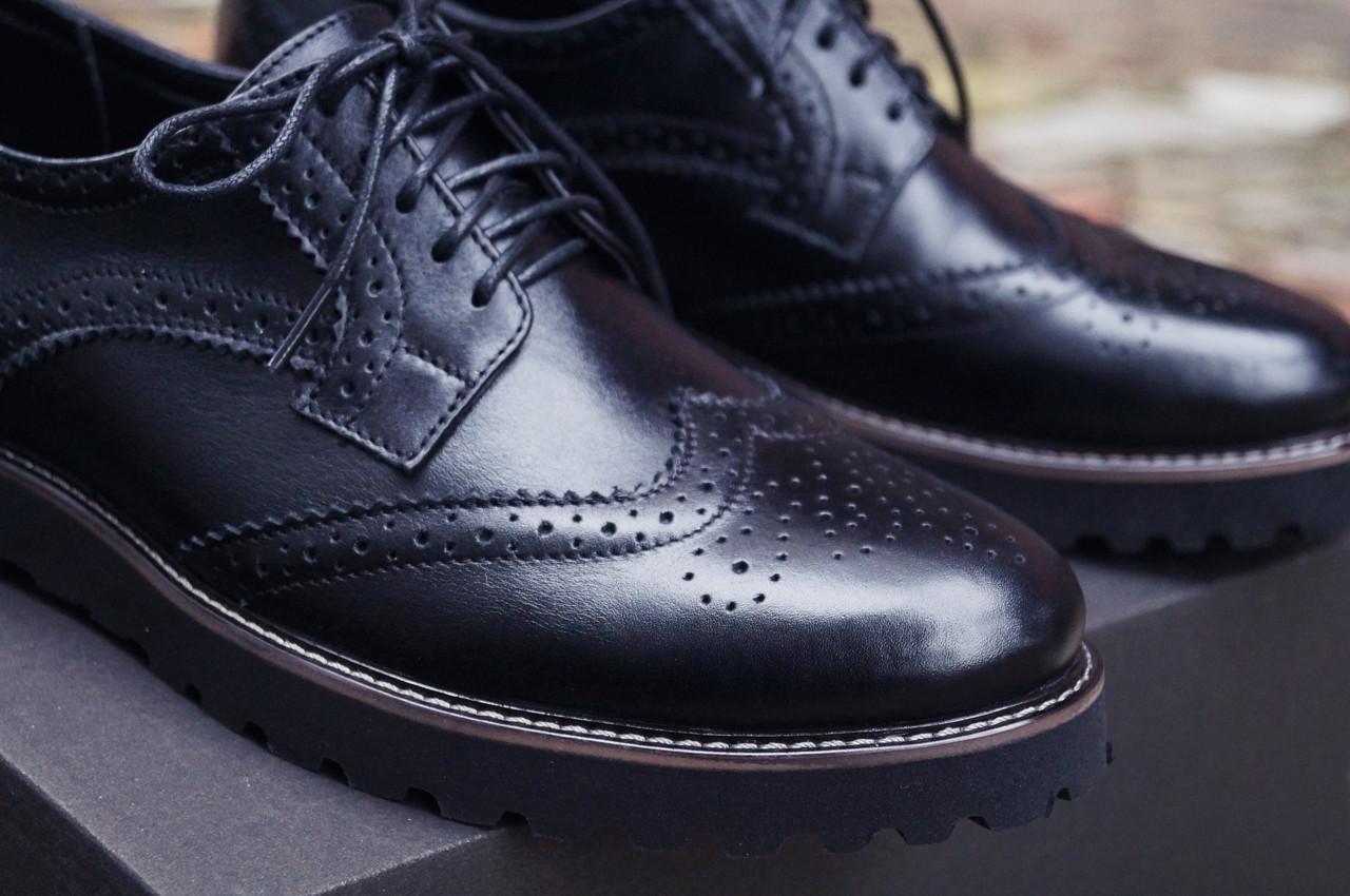 c2246a421 Туфли броги мужские черные кожаные Оникс (Onyx) от бренда Legessy размер 40,  41