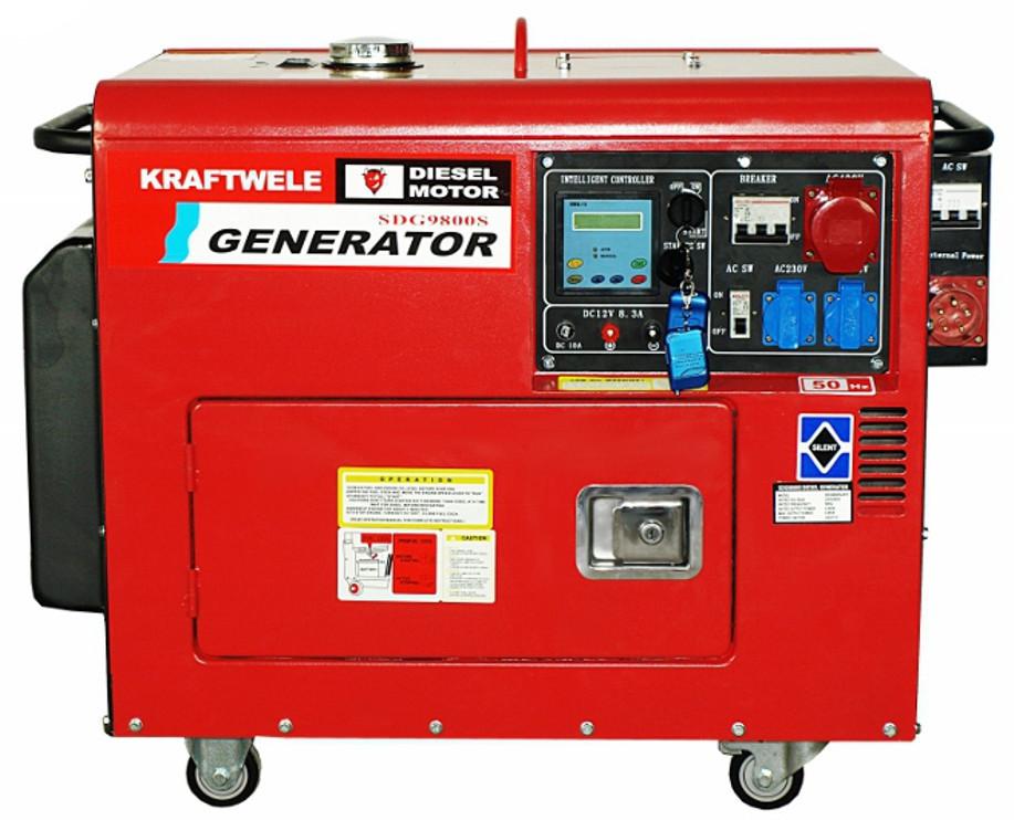 Дизельный трехфазный генератор 9.8 Квт с автоматикой(Германия)