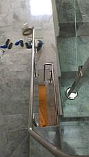 Перила нержавеющие со стеклом, фото 2
