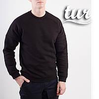 Зимовий світшот реглан чоловічий чорний від бренду ТУР Сектор (Sector) розмір S, M, L, XL