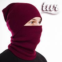 Зимова шапка бордо унісекс Бран (Bran) від бренду ТУР