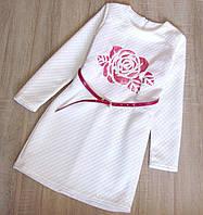 Детское нарядное платье р.140 Роза белое, фото 1
