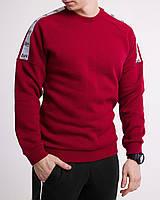 Зимний свитшот реглан мужской бордовый с лампасом от бренда ТУР Сайбот (Saibot ) размер S, M, L, XL, фото 1