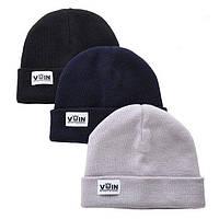 Зимняя шапка серая унисекс от бренда VoIn