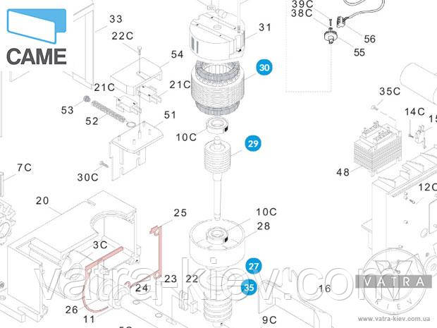 мотор автоматики Came bx 119riy036 купить цена