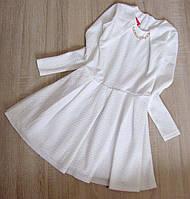 Детское нарядное платье р. 128-152 Мишель-белое, фото 1