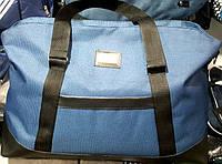 Женская дорожная синяя сумка для поездок из текстиля DG  52*32 см