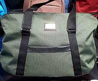 Женская дорожная зеленая сумка для поездок из текстиля DG  52*32 см