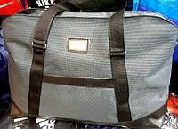 Женская дорожная серая сумка для поездок из текстиля DG  52*32 см