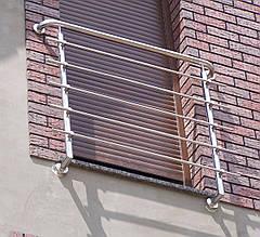 Перила нержавеющие французский балкон